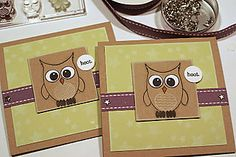 Cute card idea to use with Wise Owls set by Papertrey ink.  Card by http://pinefeather.typepad.com/pine_is_here/2008/07/papertrey-sneak-peek.html