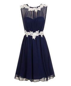 Navy & White Amanda Dress