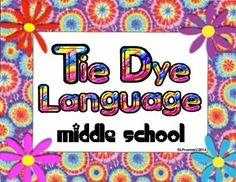 Figurative Language + Middle School - Tie Dye theme