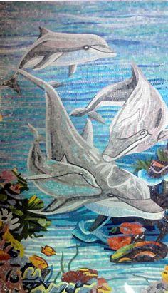 Mosaic Dolphin Art