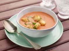 Recipe of the Day: Ina Garten's Cream of Fresh Tomato Soup Simmering it with carrots, red onion and a little bit of sugar intensifies the sweetness of the tomatoes, and adding a touch of cream before pureeing instills velvety richness.