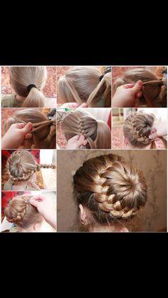 Cute way to do a bun for little girl