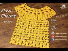 Crochet Shawlette - Como tejer bolero a crochet Crochet Cross, Crochet Yarn, Crochet Stitches, Knit Crochet, Crochet Shrugs, Black Crochet Dress, Crochet Jacket, Crochet Blouse, Fabric Painting On Clothes