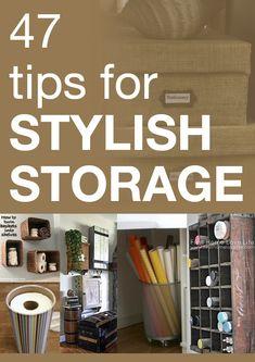 47 tips for stylish storage