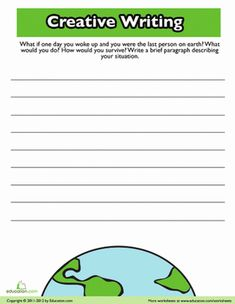 What if you were the last person on earth? Give your child some fun writing practice with this sci-fi writing prompt. Halloween Writing Prompts, Writing Prompts For Writers, Picture Writing Prompts, Persuasive Writing, Writing Lessons, Sentence Writing, Creative Writing Topics, Fun Writing Activities, Cool Writing