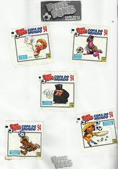 05- Álbum Ping Pong Copa do Mundo Estados Unidos 94 Childhood Memories, Trading Cards, Antique Toys, Chewing Gum