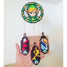 Legend of Zelda dreamcatcher perler beads by valthomas1982