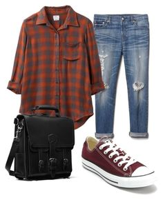 """""""Work1"""" by nina-alfthan on Polyvore featuring Gap, RVCA and Converse"""