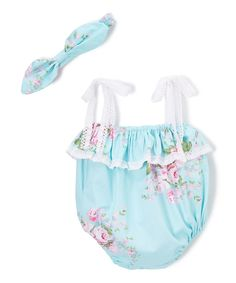 Take a look at this Blue Tiered Bodysuit & Headband - Infant today!