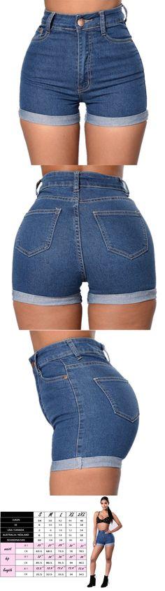 9f8ca0a0c Shorts 11555: Women Shorts Jeans High Waist Mini Party Beach Hot Sexy  Summer Denim Pants
