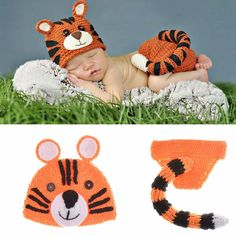 >> Click to Buy << Cute Tiger Photography Props Handmade Crochet Beanie Hat Clothes For Baby 1-6 Months DH15002 #Affiliate