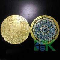 wholesale 50pcs/lot   Muslim Ramadan kareem the month of fast Souvenir Coin gold plated collection coin Free Shipping