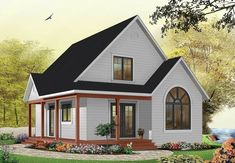 Country Cottage with Wrap-Around Porch - 21492DR | Architectural Designs - House Plans