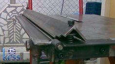 Sheet Metal Bender Brake The Make (DIY) & First Use Stainless Steel BBQ