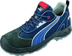 Puma Safety Shoes Skylon Low S1P ESD SRC, Puma 640680-310 Unisex-Erwachsene Espadrille Halbschuhe, Blau (blau/weiß/schwarz 310), EU 39 - http://on-line-kaufen.de/puma/39-eu-puma-safety-sicherheitsschuhe-rebound-3-0-64-4