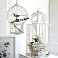 Wire Bird Cage Domes (Set of 2) - eclectic - accessories and decor - atlanta - Iron Accents