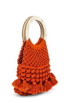 Cleobella Monaco Tote in Salsa Macrame Bag, Micro Macrame, Fashion Bags, Fashion Accessories, Diy Sac, Net Bag, Crochet Handbags, Crochet Bags, Diy Handbag