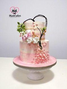 Birdcage Wedding Cake, Wedding Cake Rustic, White Wedding Cakes, Elegant Wedding Cakes, Engagement Cake Design, Engagement Cakes, Valentine Cake, Wedding Cakes With Cupcakes, Cake Boss