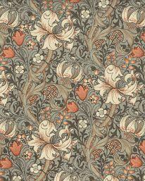 Textil Golden Lily Minor Artichoke/Vanilla från William Morris & Co - Tapetorama Lily Wallpaper, Future Wallpaper, William Morris Tapet, Craftsman Style Bungalow, Bungalow Homes, Pretty Backrounds, Chinese Wallpaper, Paisley Art, Lucky Colour