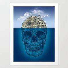 Skull Island Art Print by Rachel Caldwell - $19.00
