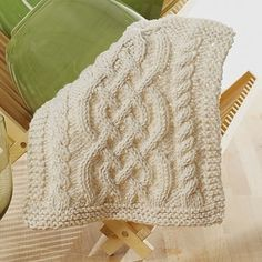 Celtic Cables Dishcloth - Free Pattern