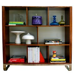 Modern Zebra Wood Bookcase now featured on Fab.