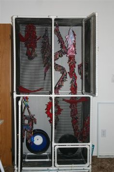 Learn how to make a large DIY sugar glider cage. It's easy, cheap, and awesome. Your sugar gliders will love it. Also works with reptiles and small animals.
