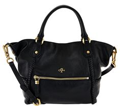 Lovely leather. Carry your treasures in style with this orYANY leather satchel. Whipstitch detail adds a dimensional look, and the magnetic closure makes it easier to reach your belongings. From orYANY. QVC.com