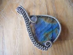 Sterling Silver Labradorite Blue Gold Flash Green by OurFrontYard, $39.77