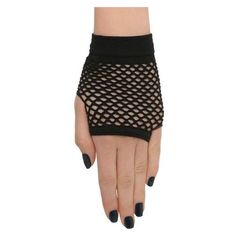 Black Fishnet Fingerless Gloves Hot Topic ❤ liked on Polyvore featuring accessories, gloves, fishnet gloves, fingerless gloves and fishnet fingerless gloves