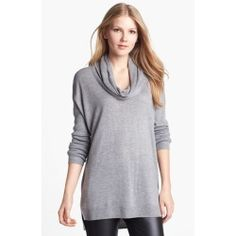 Vince Camuto Ribbed Cowl Neck Tunic (Regular