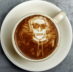 Karl Lagerfeld Coffee Art #coffee #harveyfresh #freerangemilk