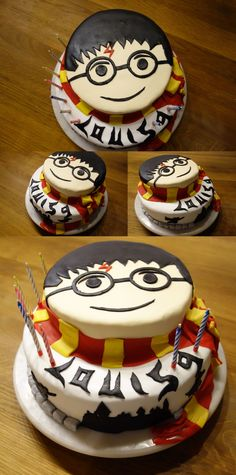 Louis Kuchen Harry Potter Cupcakes, Harry Potter Birthday Cake, Kid Cupcakes, Cupcake Cakes, Book Cakes, Different Cakes, Novelty Cakes, Sweet Cakes, Creative Cakes