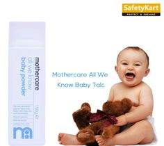 Mothercare baby talc reduces discomfort and irritation caused due to sweating and humidity. The talc is dermatologically tested and hypoallergenic. Contains natural extracts such as olive oil and chamomile to soothe and keep baby's skin fresh.#Mothercare #BabyProduct