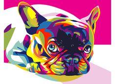 Картина по номерам «Французский бульдог» (мини-раскраска)