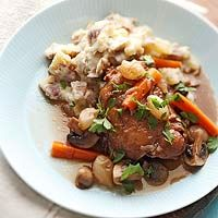 Slow Cooker Coq au Vin Recipe. My mom made this over Christmas holiday. Super yummy and easy, even kids ate it.