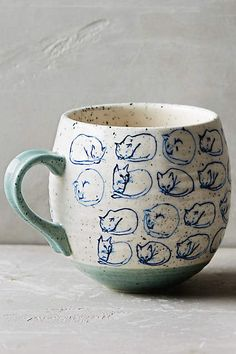 Cat Study Mug - anthropologie.com