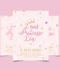 Carton d'anniversaire à personnaliser thème princesse, format 15x21cm, tarif sur devis avec ou sans impression #graphiste #princesse #garçon #fille #anniversaire #invitation #enfant #décoration #personnalisation #marseille #paris #france Invitation, Place Cards, Place Card Holders, Impression, Paris France, Etsy, Wedding Stationery, Handmade Gifts, Marseille
