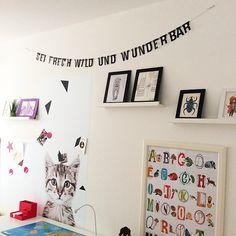 Kinderzimmer Wand Idee Girlande Buchstaben