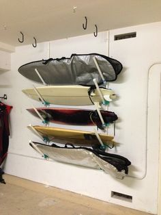 Surfboard Rack: PVC Pipe