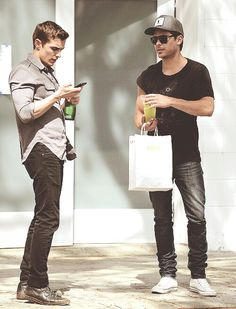 Dave Franco and Zac Efron.  I need this in my life.