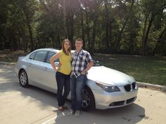 Our friends Jesse & Sarah Crook just picked up their hot, new paid-for BMW.  Jesse was able to retire from being a top car salesman at the ripe old age of 24.  Now he gets to stay home with his first baby and be a full-time dad.  Way to go!!