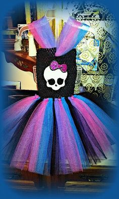 Monster High Tutu Dress by NovaGifts on Etsy, $40.00