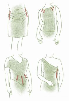 Boning: A well-fitting garment is designed to also assure the wearer that it isn't riding up or slipping down as she moves. I also often use bones to straighten side seams on a bodice, even if the garment isn't strapless. The bones serve to counteract gravity, and keep a bodice made with a soft, drapey fabric from sagging.Sew channels from silk organza, Stitch it to the underlining or over a seam allowance. Also: Gaping square necklines - boning placed horizontally