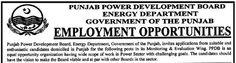 #Jobs in Punjab Power Development Board Energy Department