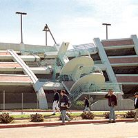It's been two decades since the magnitude 6.8 Northridge earthquake shook Los Angeles to its core.  This was the parking garage I used to park in at the California State University of Northridge.