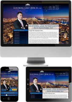 New Jersey Criminal Defense Lawyer Adam Lustberg Website Design - Check out our newest portfolio designs at http://firstpageattorney.com/web-design-portfolio/