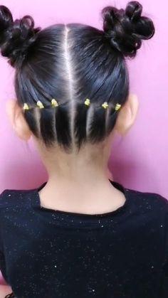 Easy Little Girl Hairstyles, Girls Hairdos, Baby Girl Hairstyles, Little Girl Braids, Hair Girls, Cute Toddler Hairstyles, Kids Braided Hairstyles, Braids For Black Hair, Hair Videos