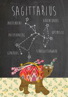 Saggitarius Zodiac Art Print by Claudia Schoen - X-Small Sagittarius Horoscope Today, Sagittarius Girl, Astrology Zodiac, Zodiac Art, Zodiac Signs, Constellation Tattoos, Saggitarius Constellation, Tattoos, Messages