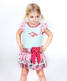 Look at this #zulilyfind! Blue Kortori Kaylee Dress - Infant, Toddler & Girls by Jelly the Pug #zulilyfinds